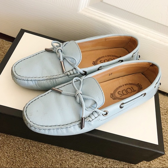 Shoes | Tods Loafer In Baby Blue Color